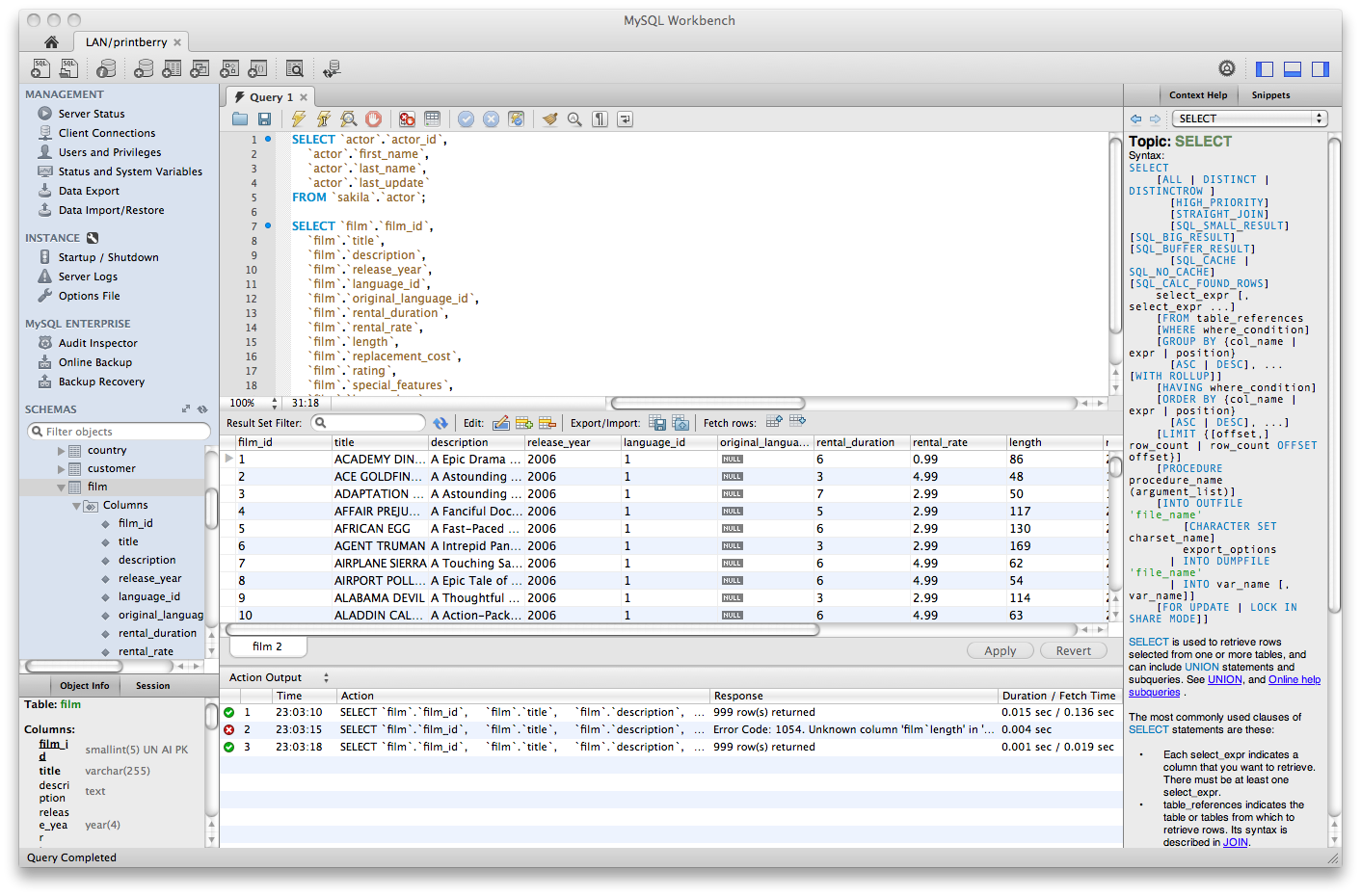 Mysql mysql workbench sql editor ccuart Image collections